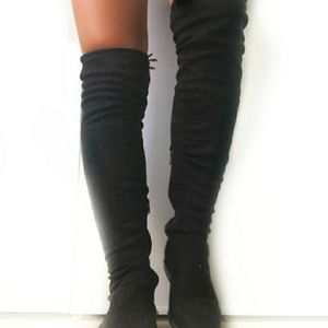 Yoki thigh high suede boots size 9